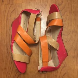 Nine West Strap Wedge Heels